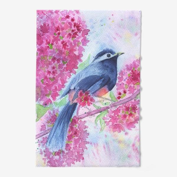 Полотенце «Птица на цветущей ветке»