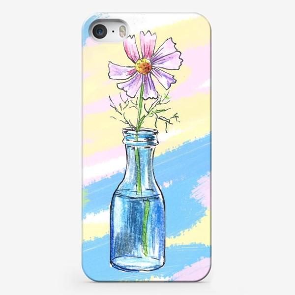 Чехол iPhone «Космея в вазе»