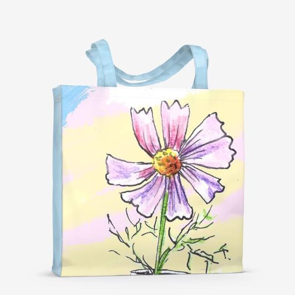 Сумка-шоппер «Космея в вазе»
