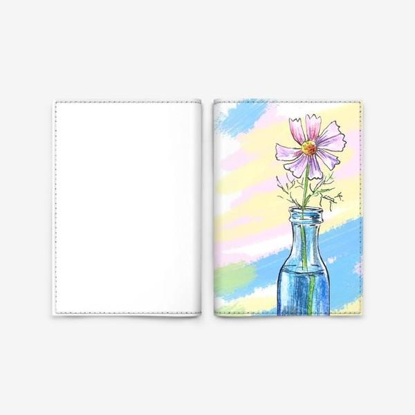 Обложка для паспорта «Космея в вазе»