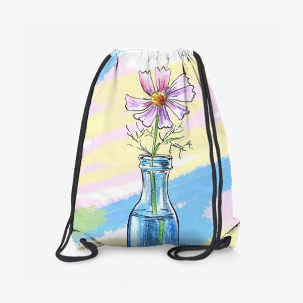 Рюкзак «Космея в вазе»