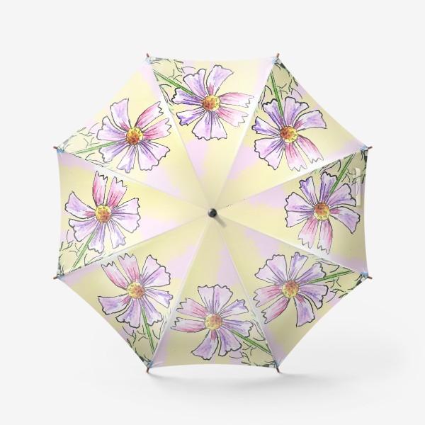Зонт «Космея в вазе»