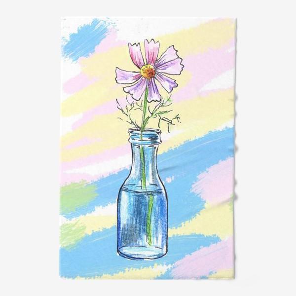 Полотенце «Космея в вазе»