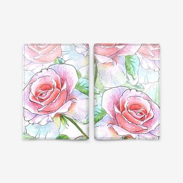 Обложка для паспорта «букет роз»