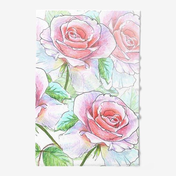 Полотенце «букет роз»