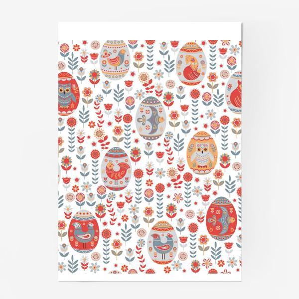 Постер «Пасхальный яйца с животными и птицами. »