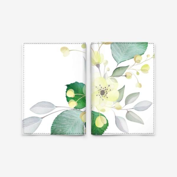 Обложка для паспорта «Нежные цветы»