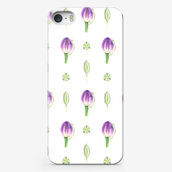 Чехол iPhone «Принт с бутонами тюльпана»