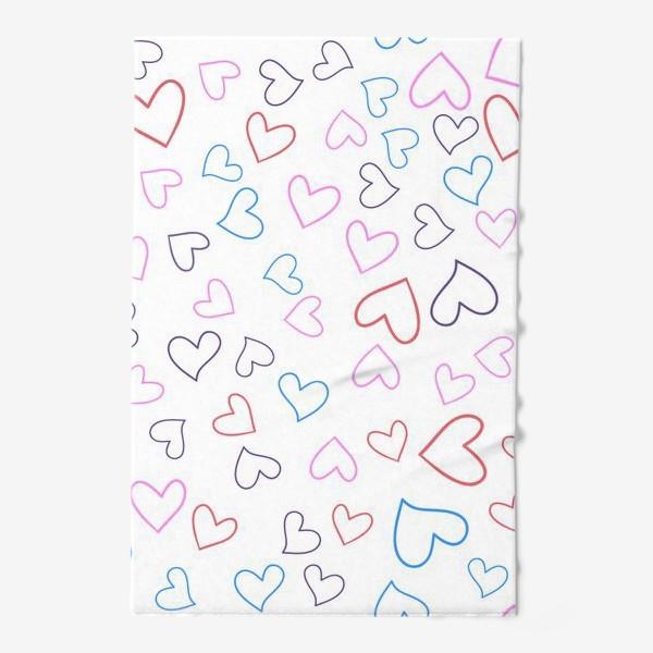 Полотенце «Сердечки разноцветные»