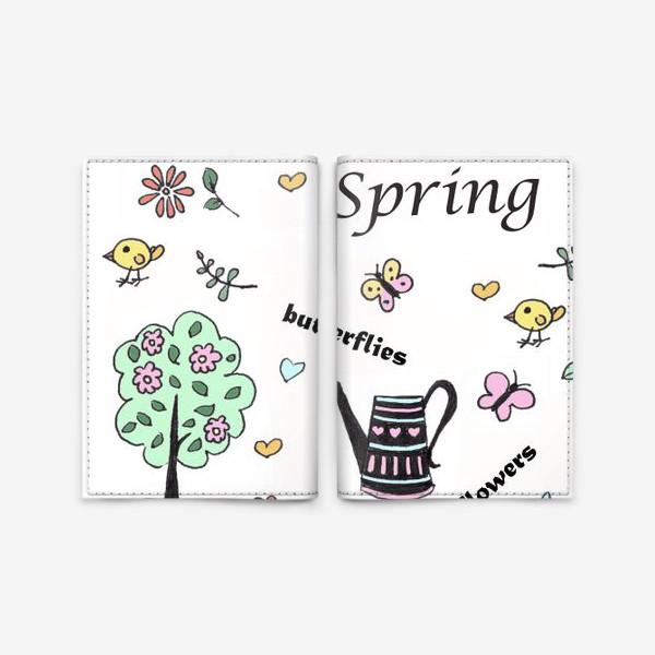 Обложка для паспорта «Весна коллаж»