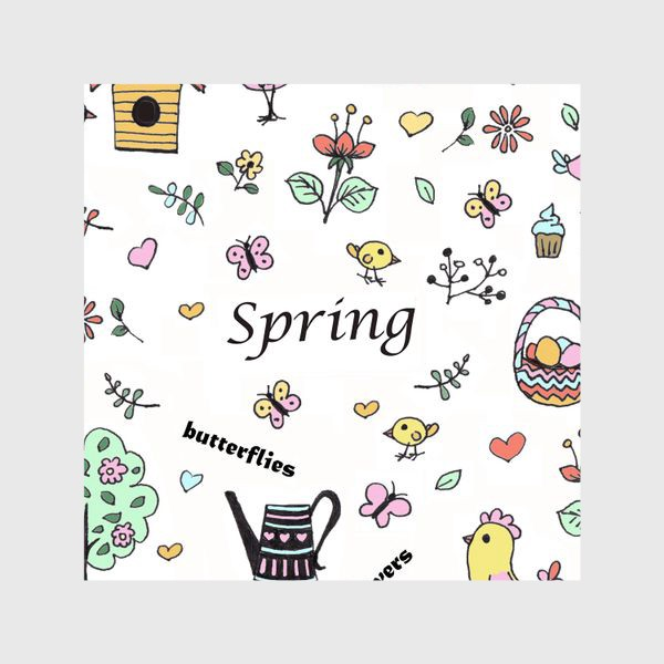 Шторы «Весна коллаж»