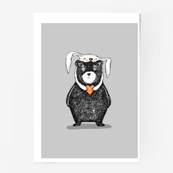 Постер «мишка-зайка»
