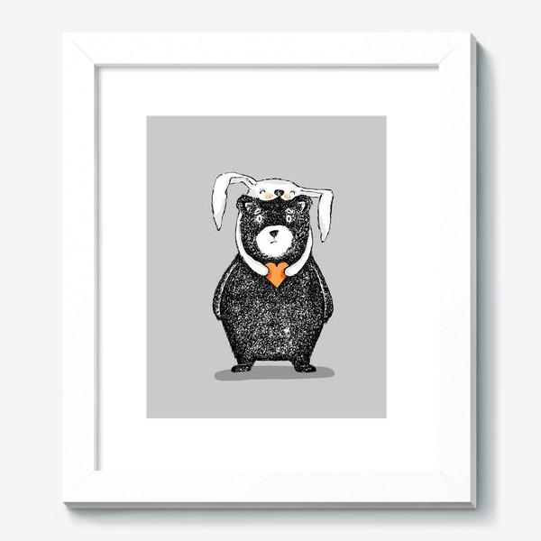 Картина «мишка-зайка»
