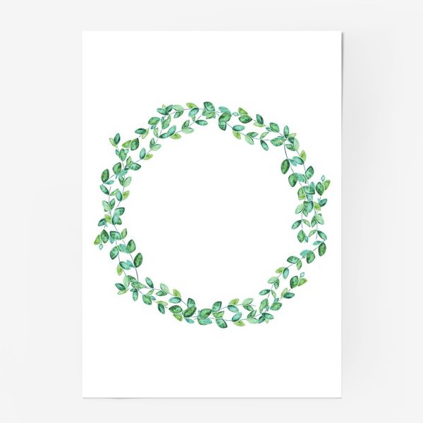 Постер «Венок из листьев»