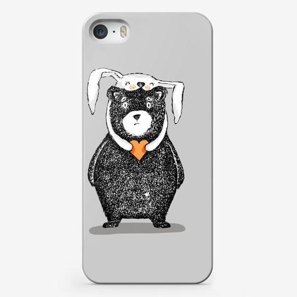 Чехол iPhone «мишка-зайка»