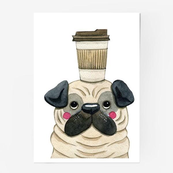 Постер «Dog & Coffee»