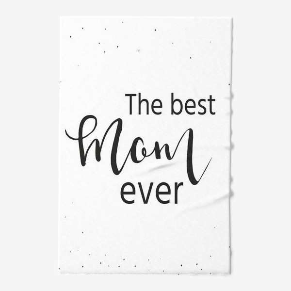 Полотенце «Лучшая мама на свете. Леттеринг»
