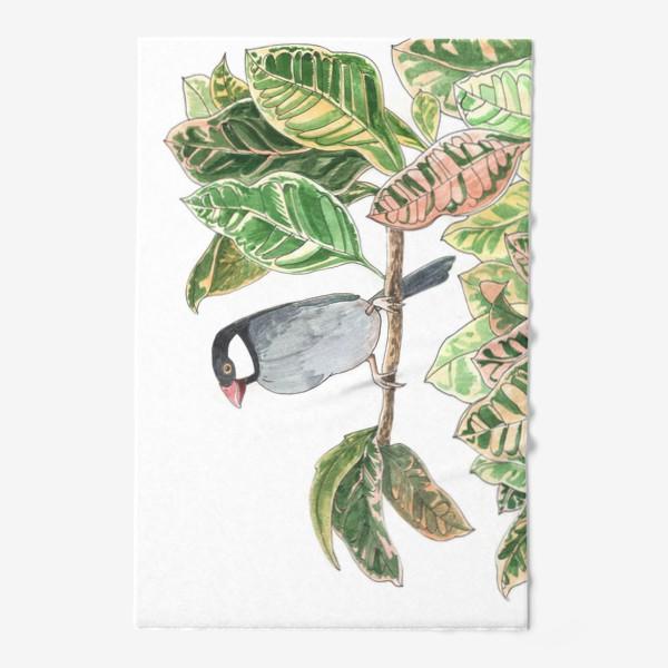 Полотенце «Птичка на цветочной ветке»