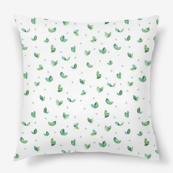 Подушка «Много-много листиков (весна, паттерн)»