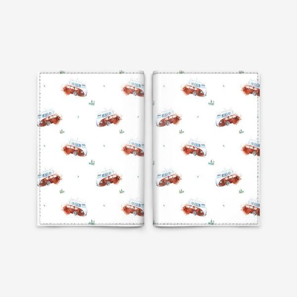 Обложка для паспорта «Минивэн спешит на помощь (машинки, паттерн, детское)»