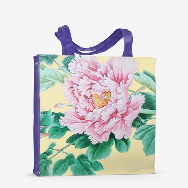 Сумка-шоппер «Пионы в японском стиле»
