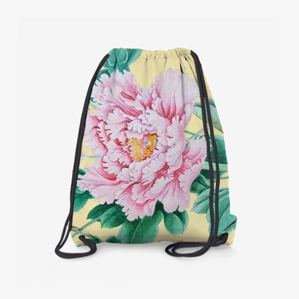 Рюкзак «Пионы в японском стиле»