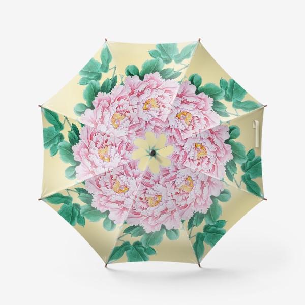 Зонт «Пионы в японском стиле»