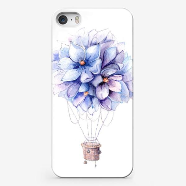 Чехол iPhone «Гортензии воздушный шар»
