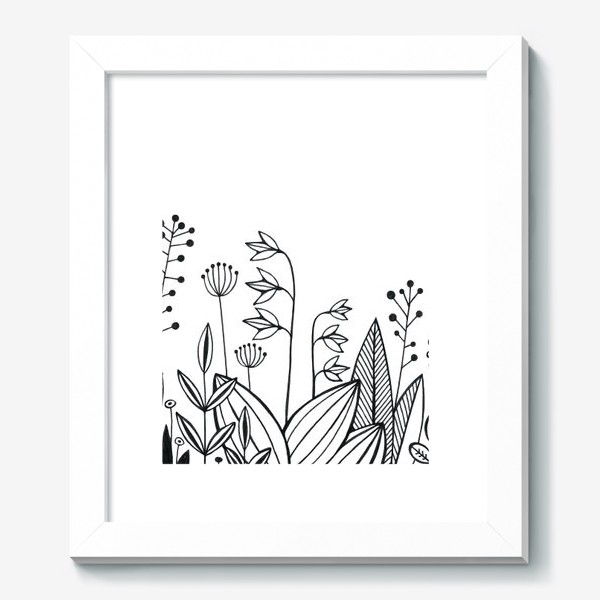 Картина «графика цветы»