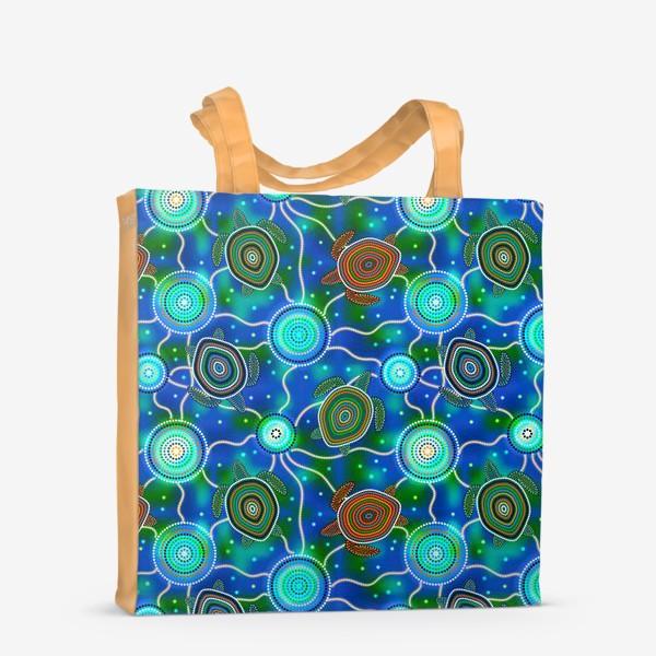 Сумка-шоппер «Черепашки и медузы. Australian Aboriginal Art»