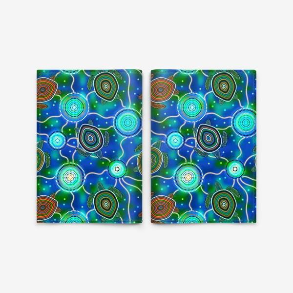 Обложка для паспорта «Черепашки и медузы. Australian Aboriginal Art»