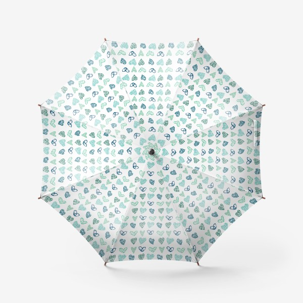 Зонт «Паттерн сердечки »
