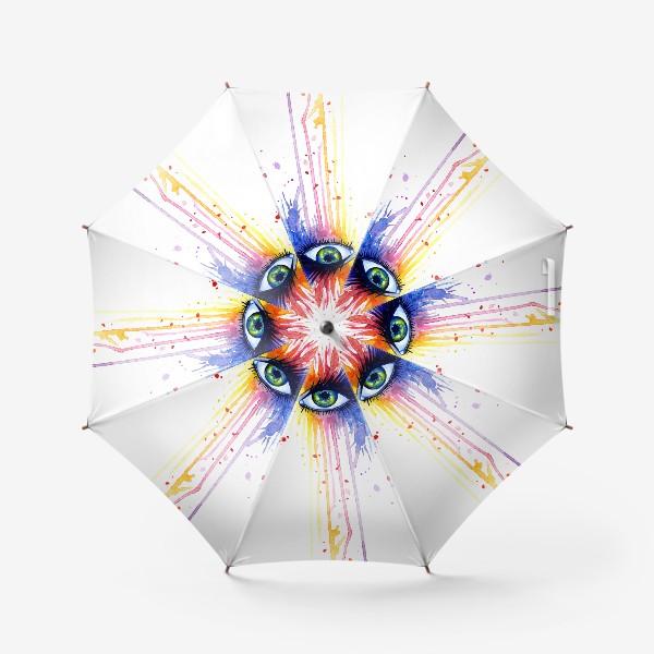 Зонт «Акварельный глаз»