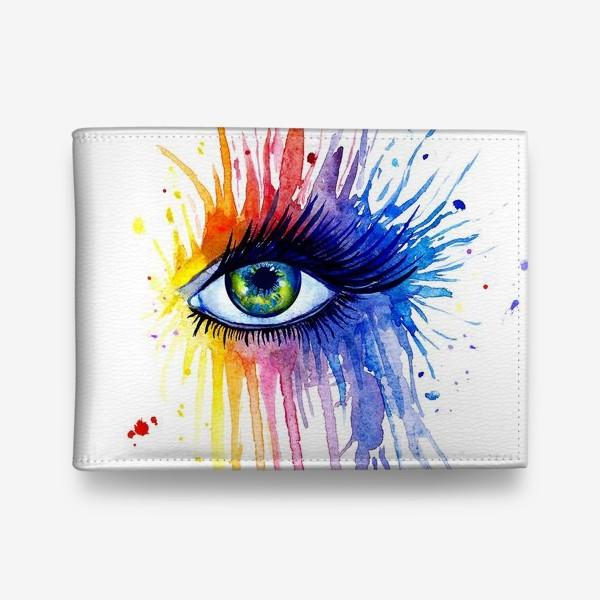 Кошелек «Акварельный глаз»