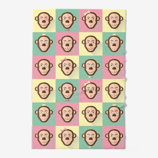 Полотенце «Паттерн обезьяны»