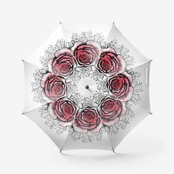 Зонт «Роза в графике»