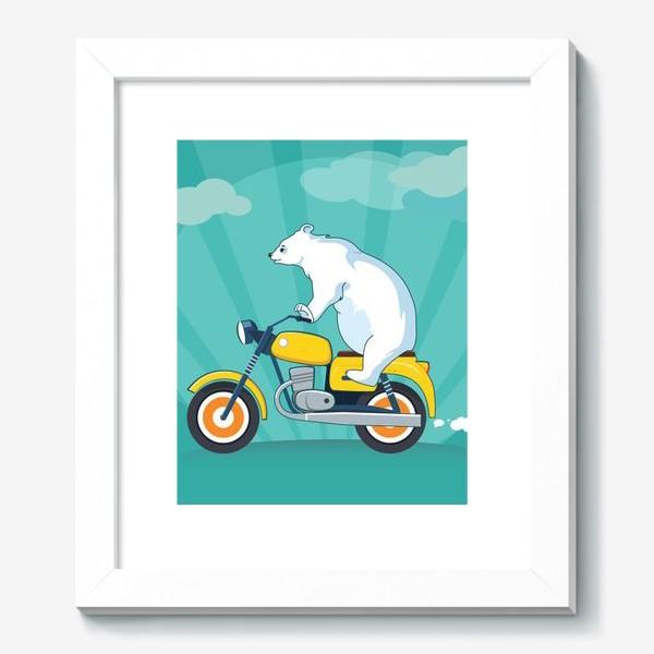 Картина «Медведь на мотоцикле»