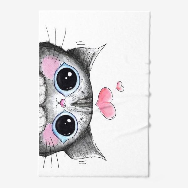 Полотенце «Карандашный кот Боська»