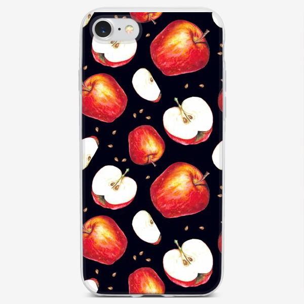 Чехол iPhone «Яблоки паттерн»
