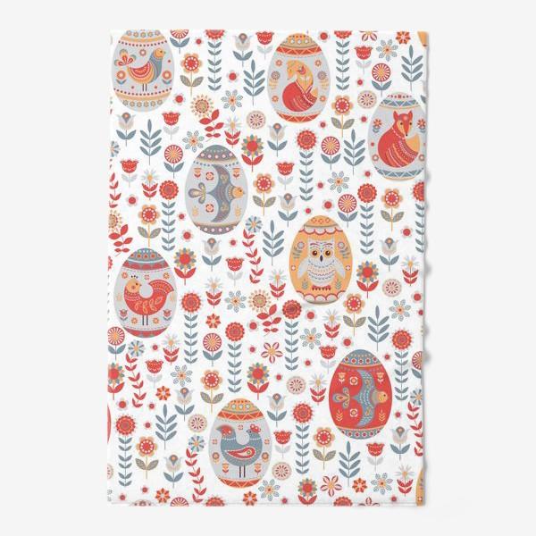 Полотенце «Пасхальный яйца с животными и птицами. »