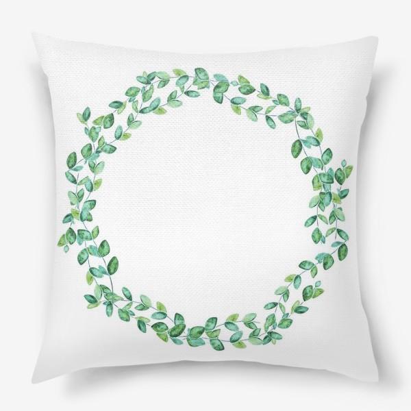 Подушка «Венок из листьев»