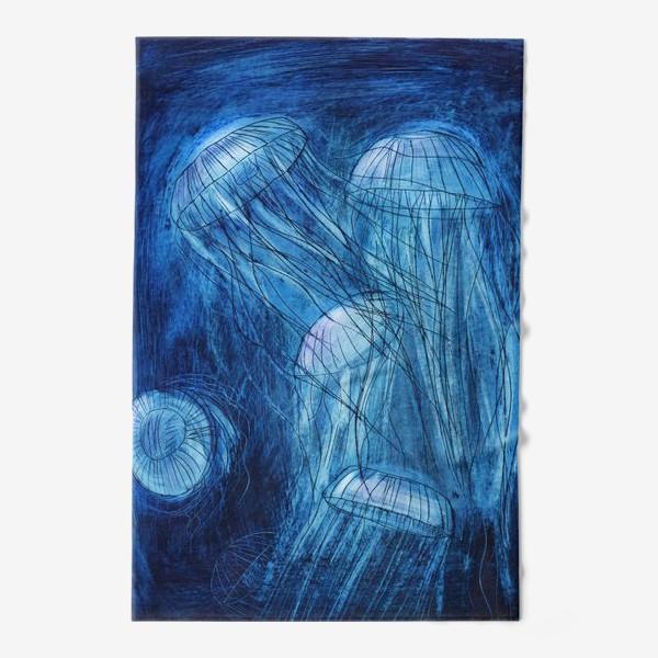 Полотенце «медузы в море»