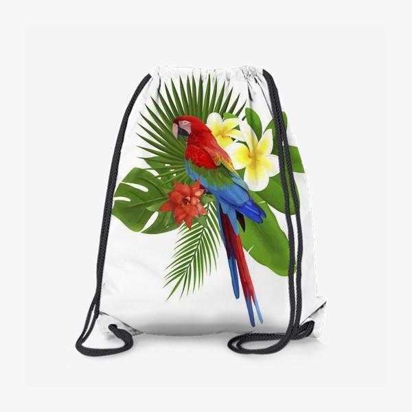 Рюкзак «Попугай Ара в пальмовых листах»