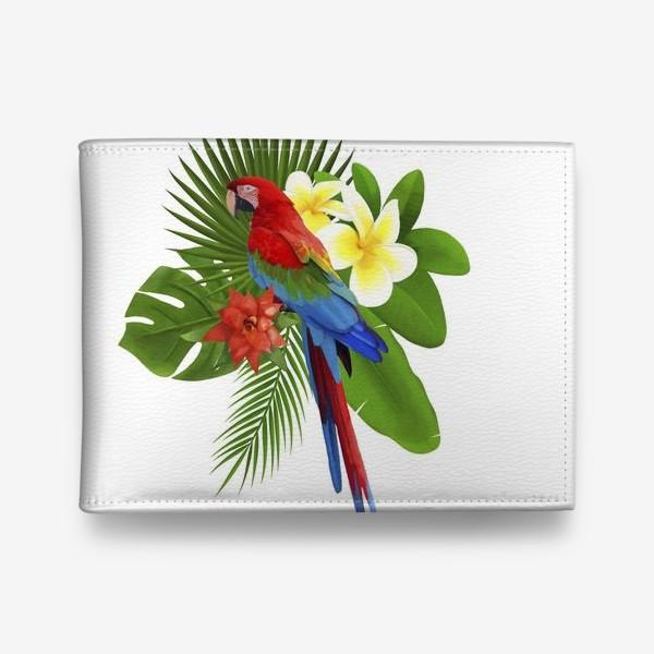 Кошелек «Попугай Ара в пальмовых листах»