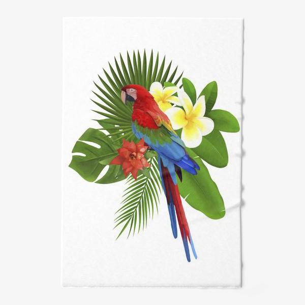 Полотенце «Попугай Ара в пальмовых листах»