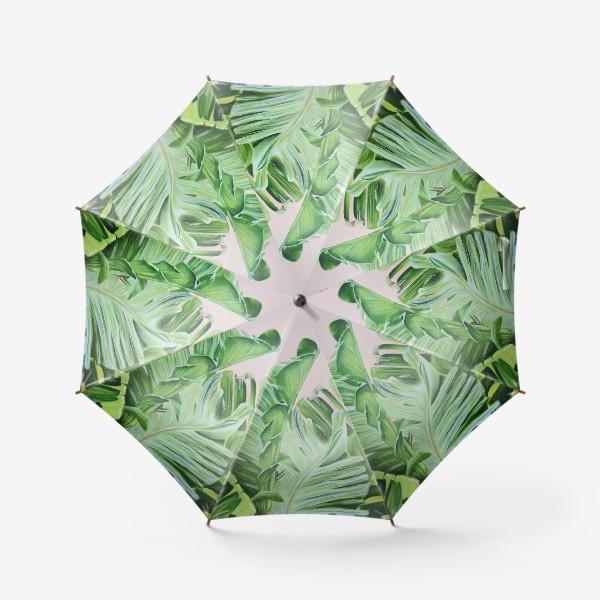 Зонт «Тропические листья Масло»