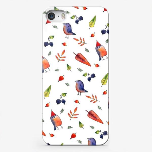 Чехол iPhone «Ягодные птички»