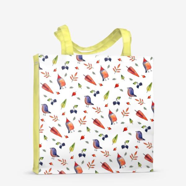 Сумка-шоппер «Ягодные птички»