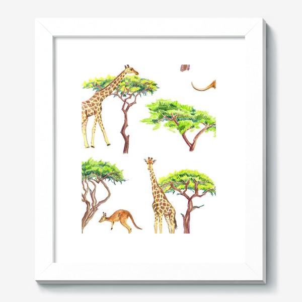 Картина «Африканский паттерн с жирафами»
