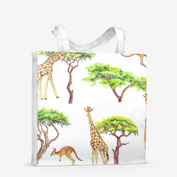 Сумка-шоппер «Африканский паттерн с жирафами»